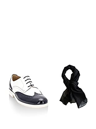 Ortiz & Reed Zapatos de cordones + Fular SET-ZMP3-BU1