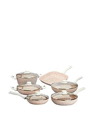 Stonerose Aluminiumpfannen-Set Stonerose 6tlg. weiß