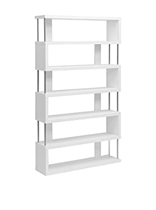 Baxton Studio Barnes 6-Shelf Bookcase, White