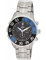 Gv2 By Gevril Parachute Black Dial Chronograph Stainless Steel Bracelet Date Mens Watch 3001B