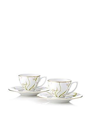Haviland Amaryllis Set of 2 Espresso Cups & Saucers