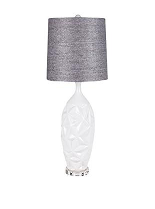 Surya Table Lamp, White/Grey
