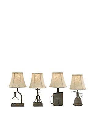 Set of 4 Mayberry Utensil Mini Lamps