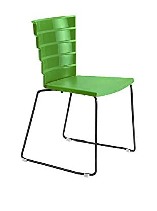 Metalmobil  Set Silla 2 Uds. Bikini 531 Verde / Negro
