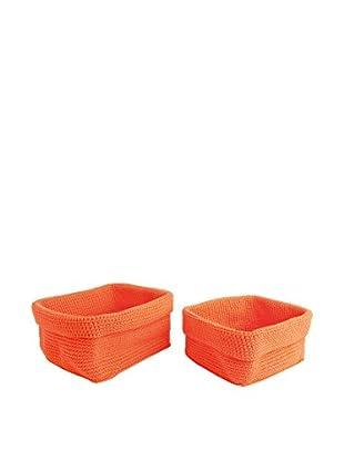 Körbe 2er Set orange