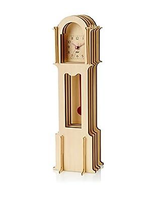 Wolf Designs Jigsaw Mini Grandfather Clock, Natural