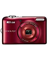 Nikon Coolpix L30 20.1 MP Point and Shoot Camera (Silver)