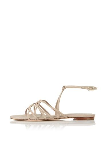 Delman Women's Skye Flat Sandal (Pebble)