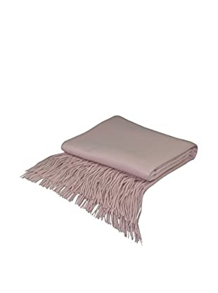 PÜR Cashmere Signature Blend Throw, Barley Pink