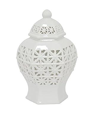 Three Hands Pierced White Temple Jar