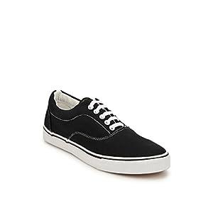 Black Colored Casual Wear Phosphorous Sneakers for Men