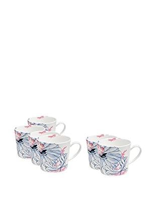 Elinno Lotus Lullaby Set of 6 Mugs, Multi