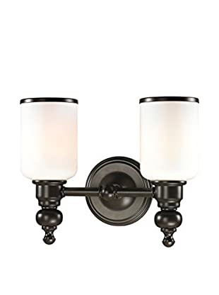 Artistic Lighting Bristol Collection 2-Light LED Bath Bar, Oil Rubbed Bronze
