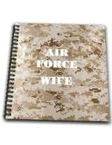 3dRose db_80674_1 Air Force Wife Drawing Book, 8 by 8-Inch