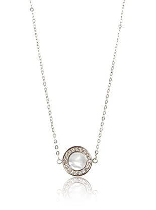 Chloe Collection By Liv Oliver Mother of Pearl Disc Necklace