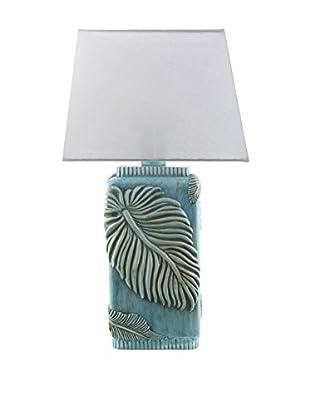 Surya Lana Outdoor Table Lamp, Aqua