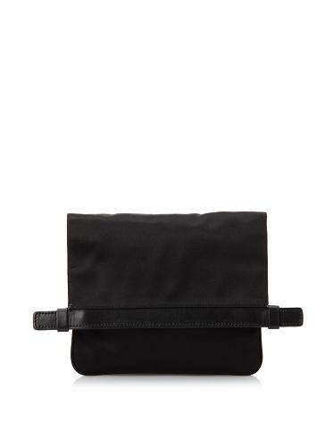 JIL SANDER Women's Fold-Over Clutch (Black)