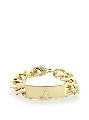 Ettika 18K Gold-Plated A Initial ID Bracelet