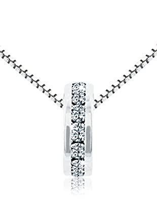 Diamond Style Halskette Domino Clear Crystal