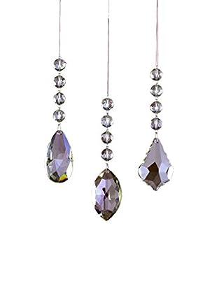 Sage & Co. Set of 3 Crystal Drop Ornaments