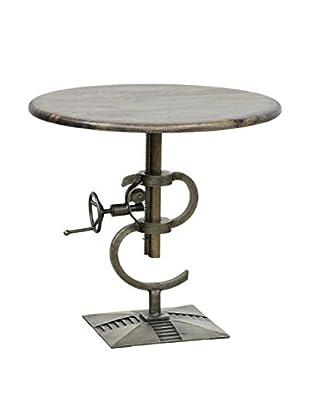 Tottenham Court Leron Crank Table, Antique Nickle