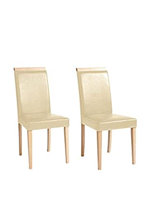 13 Casa Set Silla 2 Uds. Madrid 1 Beige/Natural