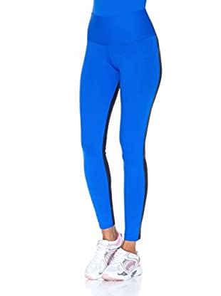 Naffta Pantalón Ajustado Active / Gym (Azul Francia / Gris)