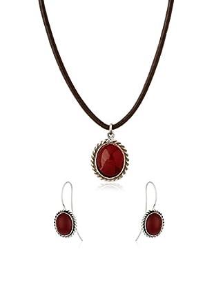 URBAN STYLE Set laccio, pendente e orecchini Antia argento 925