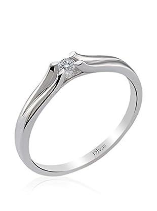 Divas Diamond Anillo 0,06 ct Solitaire (Plata)