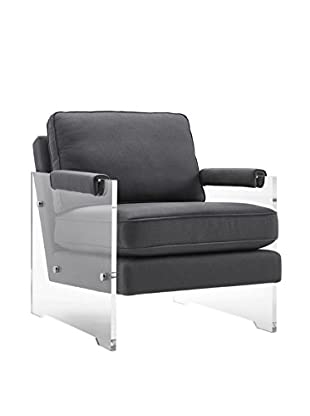 TOV Furniture Serena Floating Lucite Chair, Grey