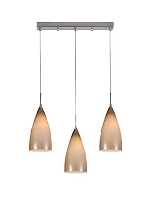 Homemania Lámpara De Suspensión Asus Marrón 45 x 7 cm