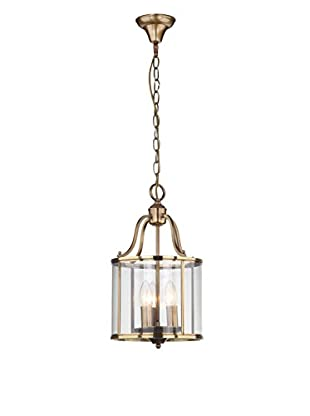 Safavieh Sutton Place Small 3-Light Pendant, Clear/Brass
