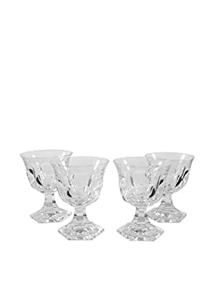 Set of 4 Petite Coupe Wine Glasses, Clear