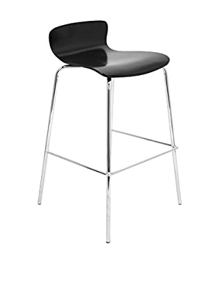 LumiSource Wood Bar Stool Stacker, Black