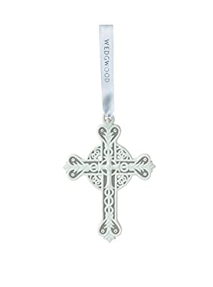 Wedgwood Figural Cross Ornament, Grey