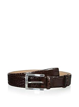 Hickey Freeman Men's Waxed Croco Nubuck Belt