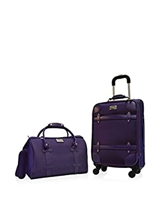 Adrienne Vittadini Metro Collection 2-Piece Carry-On Set, Purple
