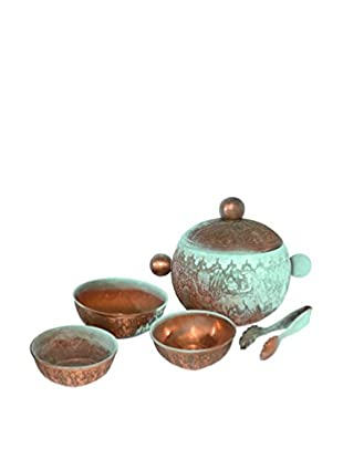 Uptown Down Previously Owned 5-Piece Copper Nesting Bowls & Jar Set