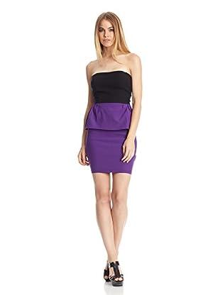 Barbarella Kleid Purple Peplum