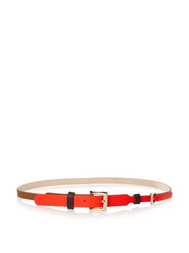 Be&D Women's Vicky Color Block Neon Belt (Neon Orange)