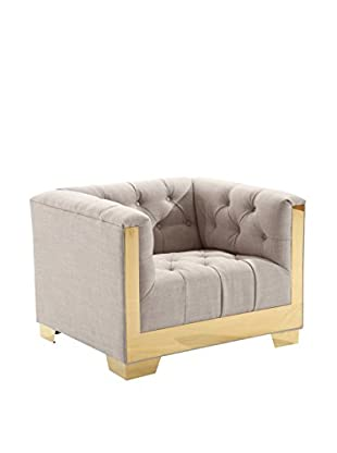 Armen Living Zinc Contemporary Chair, Taupe