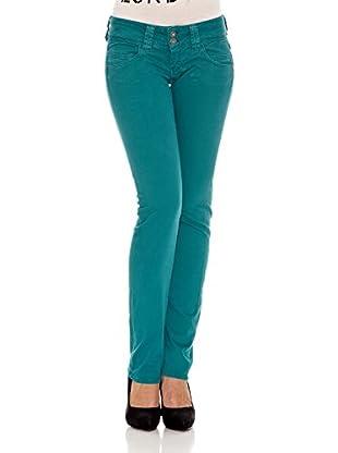 Pepe Jeans London Pantalón Venus (Verde Oscuro)