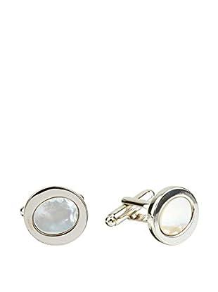 Ortiz & Reed Manschettenknopf Silver-Color Shell Cufflinks