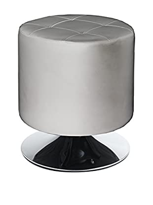 Tomasucci Cubo De Basura Con Pedal Pouf Girevole Zoom Silver