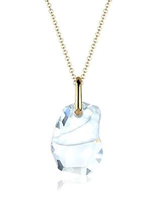 Goldhimmel Halskette Swarovski Kristalle Weiss