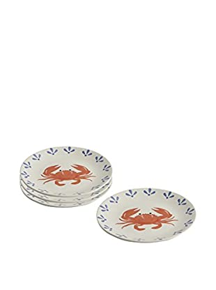 Woodard & Charles Set of 4 Crab Plates