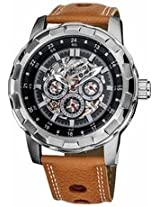 Akribos Automatic Gmt Multi-Function Skeleton Dial Mens Watch Ak557Br