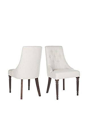 Safavieh Set of 2 Annabel Dining Chairs, Beige