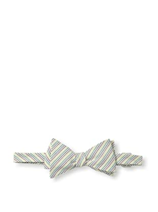 Ivy Prepster Men's Connected Rainbow Stripe Bow Tie, Multi