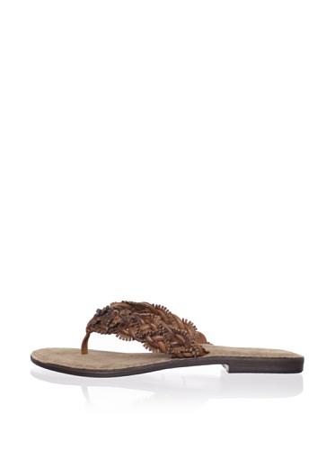 Chocolat Blu Women's Tiana Thong Sandal (Brown Combo)